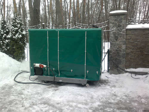 брезент для защиты оборудования