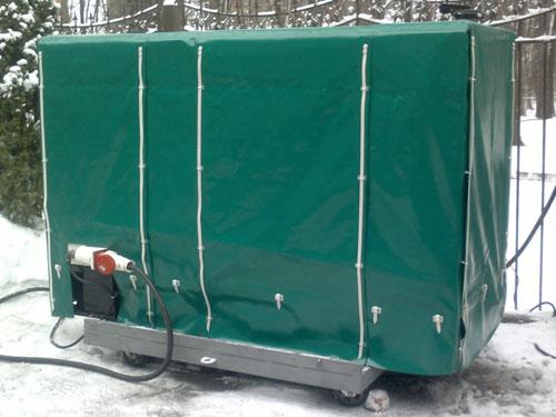тент для защиты оборудования